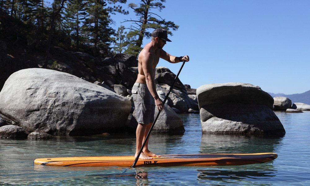 ISLE 10'8 Wood Finish Soft Top Stand Up Paddle Board review
