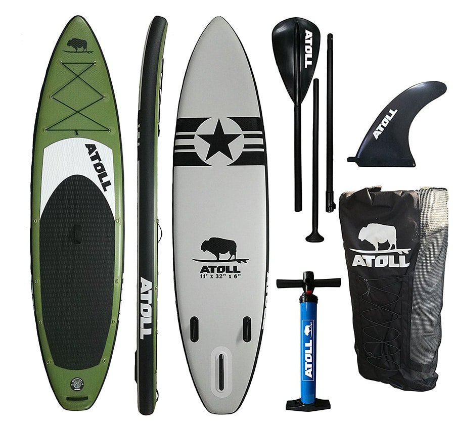 Atoll 11 Foot Inflatable Stand up Paddle Board Accessories