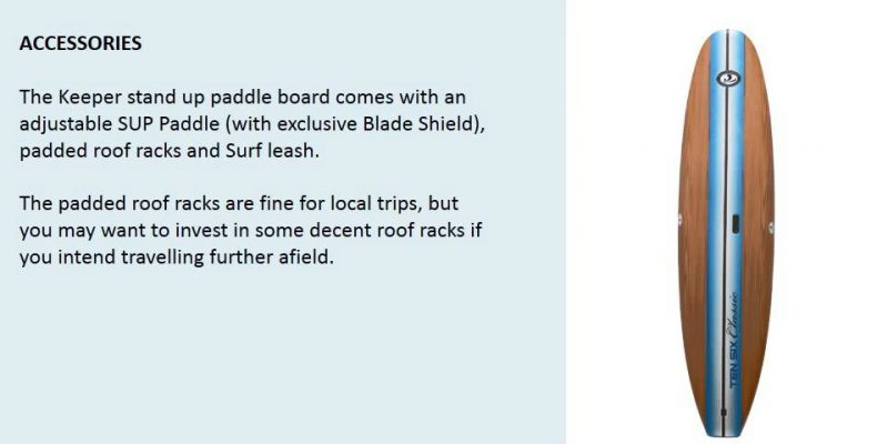 KEEPER 10'6″ SPORTS STAND UP PADDLE BOARD SET – video review