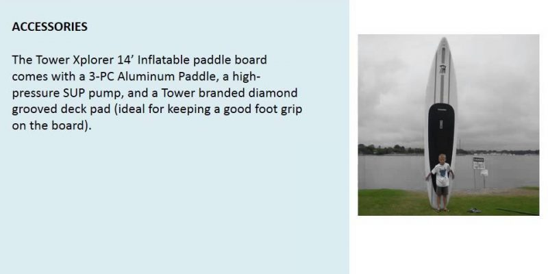 Tower Xplorer 14′ Inflatable Paddle Board – video review
